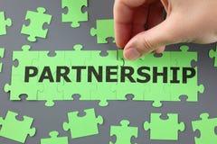 Partnerstwo łamigłówka Zdjęcia Stock