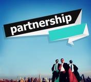 Partnerstwo pracy zespołowej Drużynowego budynku Organazation pojęcie Zdjęcia Royalty Free