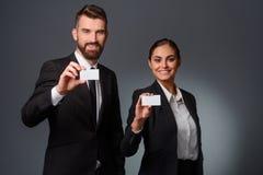 Partnerts дела демонстрируют карточки посещения стоковое изображение