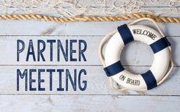 Partnervergadering Royalty-vrije Stock Foto