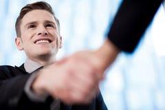 Partnery biznesowi trząść ręki Zdjęcie Stock