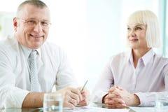 partnery biznesowy starsi Zdjęcie Stock