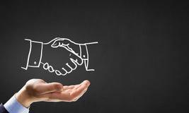 Partneship sketch handshake Stock Photo