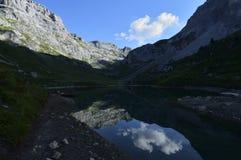 Partnunsee, Ratikon, Svizzera Fotografia Stock Libera da Diritti