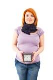 Parto que espera de la mujer embarazada Imágenes de archivo libres de regalías