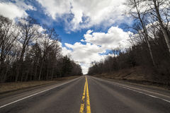 Partout où la route nous prend photographie stock