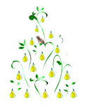 A Partridge in a Pear Tree. Stylized illustration of a partridge in a pear tree Royalty Free Stock Images