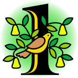 Partridge In A Pear Tree/eps Royalty Free Stock Photos