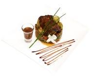 Partridge with porcini mushrooms and salad vegetab