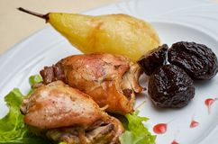 Partridge roasted Royalty Free Stock Images