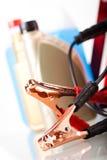 Parts Accessories on vivid moto concept Stock Images