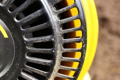 Parts of agricultural machines close-up. Manual starter royalty free stock photography