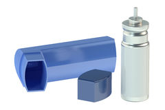 Parts of asthma inhaler Royalty Free Stock Photos