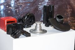 Auto parts of vehicles, parts for vehicle engines. Parts of automobile engines; spares Royalty Free Stock Images