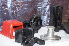Auto parts of vehicles, parts for vehicle engines. Parts of automobile engines; spares Stock Images