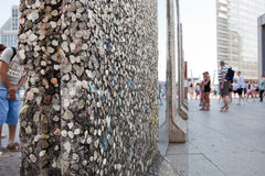 Parts of Berlin Wall on Potsdamer Platz. Berlin, Germany Royalty Free Stock Photo