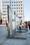 Parts of Berlin Wall on Potsdamer Platz. Berlin, Germany Stock Images
