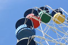 Parts of big wheel Royalty Free Stock Images