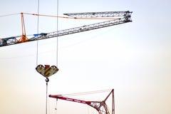 Parts of building crane Stock Images