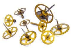 Parts of clockwork Stock Image