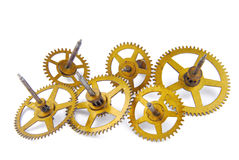 Parts of clockwork Stock Photos