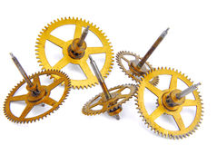 Parts of clockwork Royalty Free Stock Photos