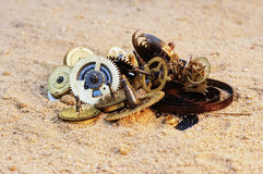 Parts of clockwork mechanism Royalty Free Stock Photography