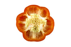 Parts of colorful sweet bell pepper Royalty Free Stock Photography