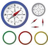 Parts of compass kit Royalty Free Stock Photos