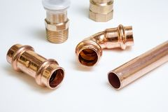 Parts of copper Royalty Free Stock Photography