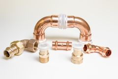 Parts of copper Stock Photos