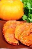 Parts cuites au four de potiron Image stock