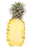 Parts d'ananas d'isolement photo stock