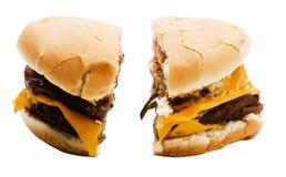 Parts d'hamburger images stock