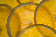 Parts d'orange photo stock