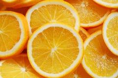 Parts d'orange image stock
