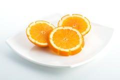Parts d'orange Photo libre de droits