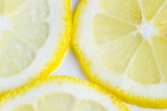 Parts d'un citron Photos stock