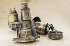 Parts of Damage vehicle Alternator part Royalty Free Stock Image