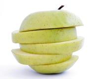 parts de 1 pomme photographie stock libre de droits