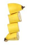 Parts de banane photo stock