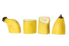 Parts de banane photo libre de droits