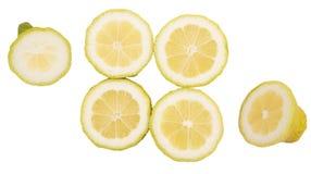 Parts de citron Images libres de droits