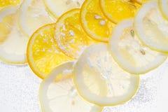 Parts de citron Photo libre de droits
