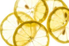 Parts de citron Images stock
