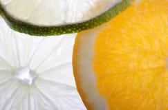 Parts de citron Photos libres de droits