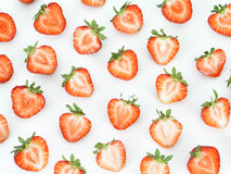 Parts de fraise photo libre de droits