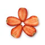 Parts de fraise Image stock