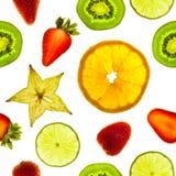 Parts de fruit images stock