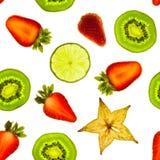 Parts de fruit images libres de droits